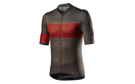 Picture of CASTELLI MAISON JERSEY BARK GREEN/FIERY RED