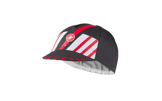Picture of CASTELLI HORS CATEGORIE CAP DARK GRAY/SILVER GRAY/RED