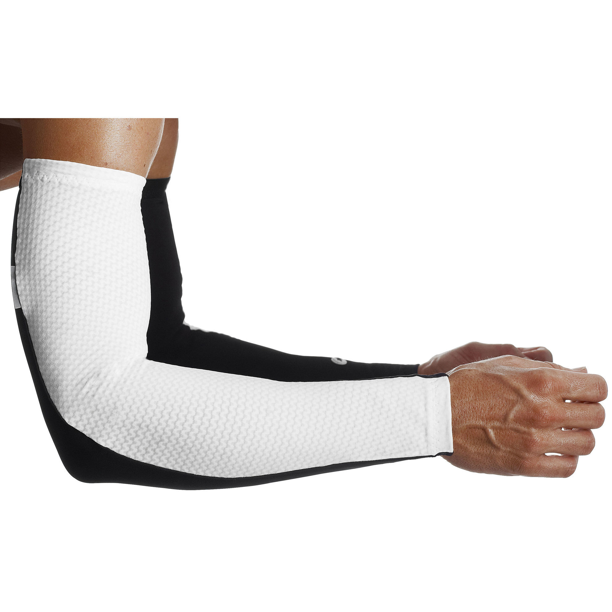 Picture of ASSOS ARMWARMER S7 -BIANCO/NERO TG XL
